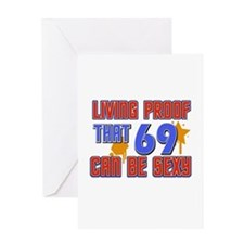 Cool 69 year old birthday design Greeting Card