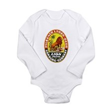 Germany Beer Label 7 Long Sleeve Infant Bodysuit