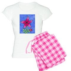 Pink Flower Pajamas