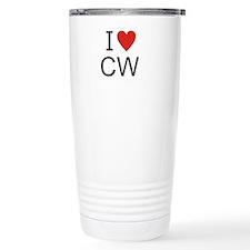 Cute I heart cw Travel Mug