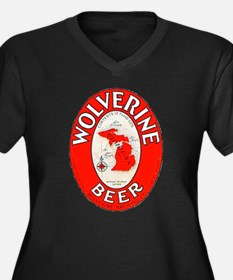 Michigan Beer Label 1 Women's Plus Size V-Neck Dar