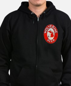 Michigan Beer Label 1 Zip Hoodie
