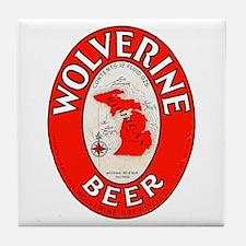 Michigan Beer Label 1 Tile Coaster
