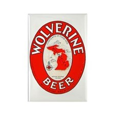 Michigan Beer Label 1 Rectangle Magnet