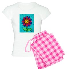 Pink and Blue Flower Pajamas