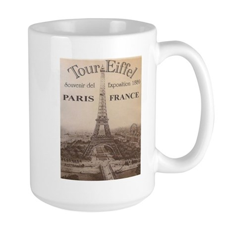 VINTAGE EIFFEL TOWER Large Mug
