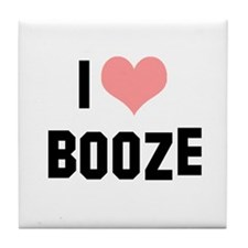 I heart Booze Tile Coaster