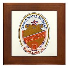 Mexico Beer Label 6 Framed Tile