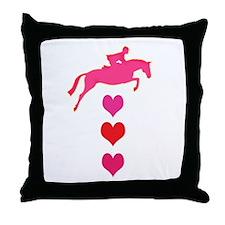 Unique Pink pony Throw Pillow