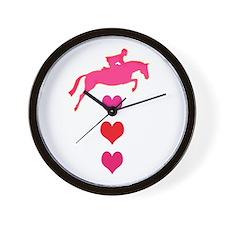 Cute Horseback riding Wall Clock