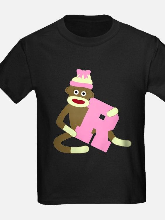 Sock Monkey Monogram Girl R T