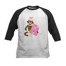 Sock Monkey Monogram Girl R Tee