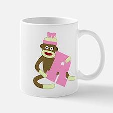 Sock Monkey Monogram Girl R Coffee Mug