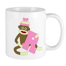 Sock Monkey Monogram Girl R Coffee Mug