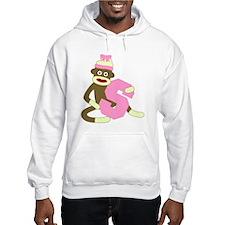 Sock Monkey Monogram Girl S Hoodie