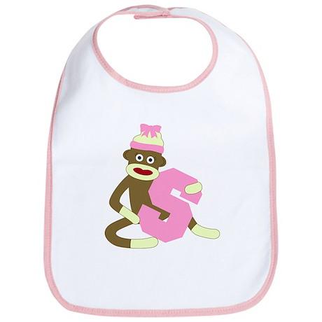 Sock Monkey Monogram Girl S Baby Bib