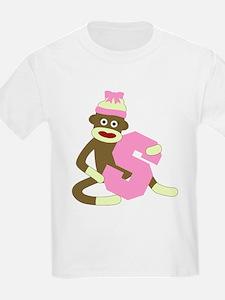 Sock Monkey Monogram Girl S T-Shirt