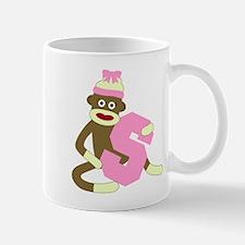 Sock Monkey Monogram Girl S Coffee Mug