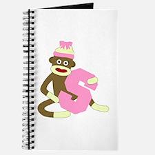 Sock Monkey Monogram Girl S Journal
