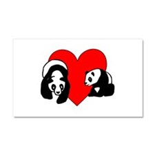 Panda Bear Love Car Magnet 20 x 12