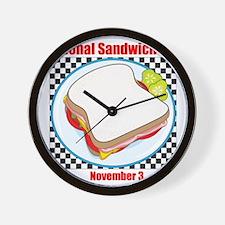 Sandwich Wall Clock