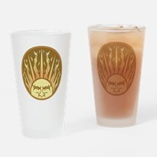 Flaming Sun Drinking Glass