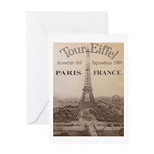 VINTAGE EIFFEL TOWER Greeting Card