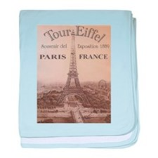 VINTAGE EIFFEL TOWER baby blanket
