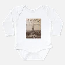 VINTAGE EIFFEL TOWER Long Sleeve Infant Bodysuit