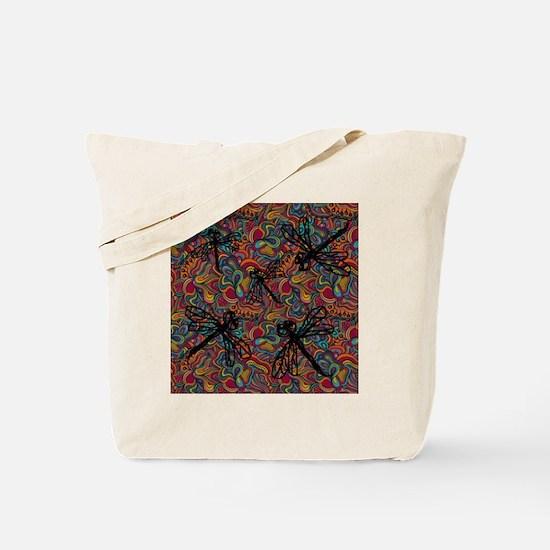 Hippy Dragonfly Flit Tote Bag