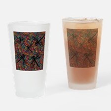 Hippy Dragonfly Flit Drinking Glass