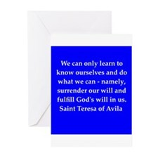 Saint Teresa of Avila Greeting Cards (Pk of 10)