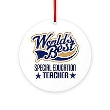 Special Education Teacher Gift (Worlds Best) Ornam