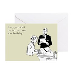 Birthday Reminder Greeting Cards (Pk of 20)