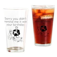 Birthday Reminder Drinking Glass