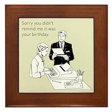 Birthday Reminder Framed Tile