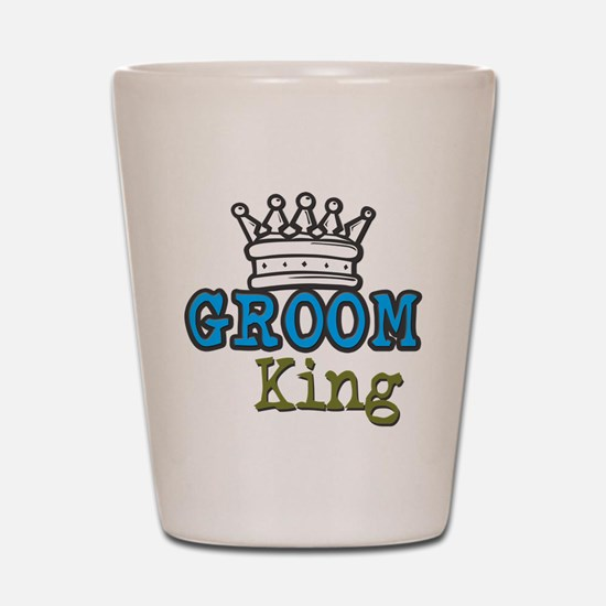 Groom King Shot Glass