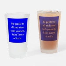 Saint Teresa of Avila Drinking Glass