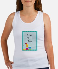Cocktail Border Women's Tank Top
