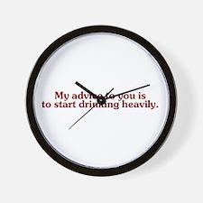 Unique Advice Wall Clock