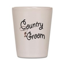 Country Western Groom Shot Glass