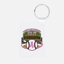 Dont Let Cancer Steal 2nd Base Keychains