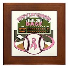 Dont Let Cancer Steal 2nd Base Framed Tile