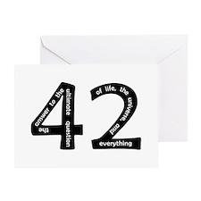 42 Greeting Card