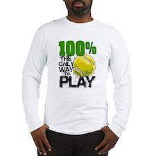 100% Tennis Long Sleeve T-Shirt