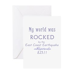 My World Was Rocked Greeting Card