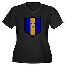 Funny Collective press Women's Plus Size V-Neck Dark T-Shirt