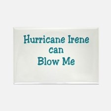 Hurricane Irene can Blow Me Rectangle Magnet