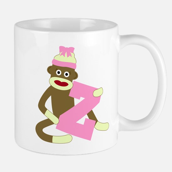 Sock Monkey Monogram Girl Z Coffee Mug