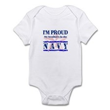 Proud Navy Brother Infant Creeper